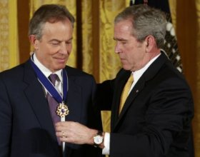 Blair and Bush -- war criminals
