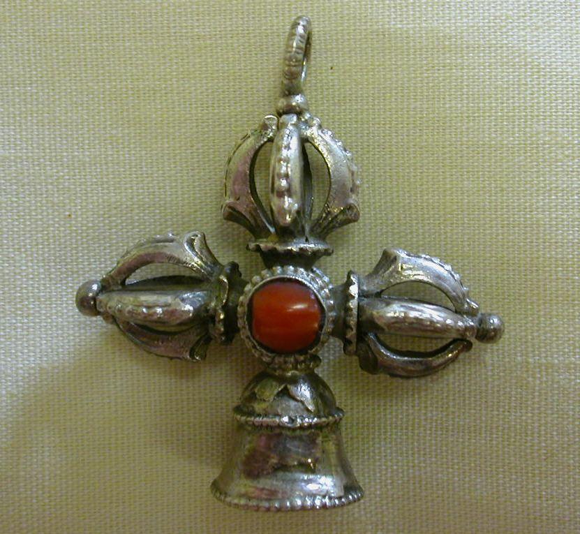 Bell vajra pendant 2 images bell vajra pendant mozeypictures Gallery
