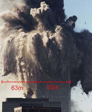 Abnormal blast radius WTC